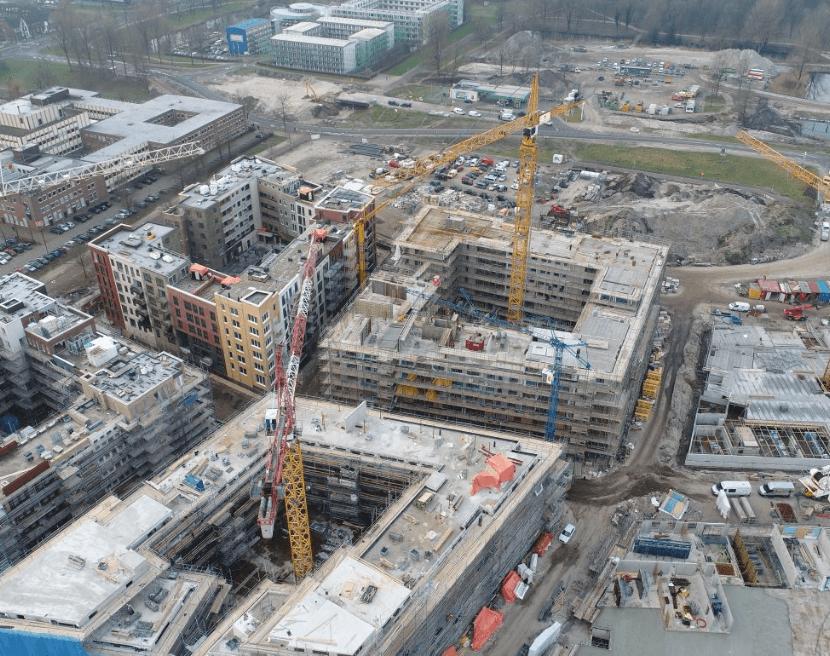 Gebouwen onder constructie
